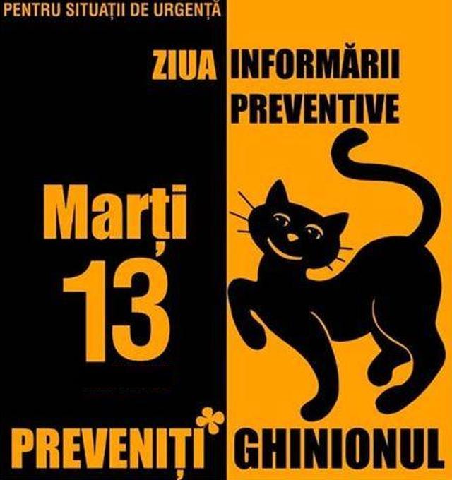 Marți 13 - Ziua Informării Preventive