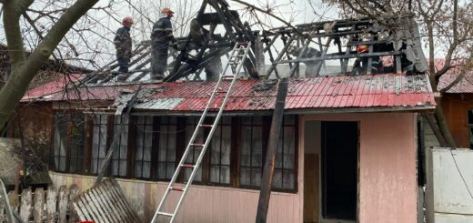Incendiu casă