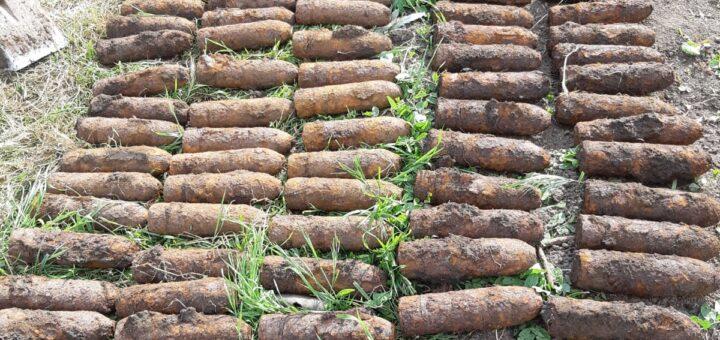 Asanare de muniție, 231 de proiectile explozive calibrul 76 milimetri, localitatea Valea Ursului, comuna Miroslava, județul Iași