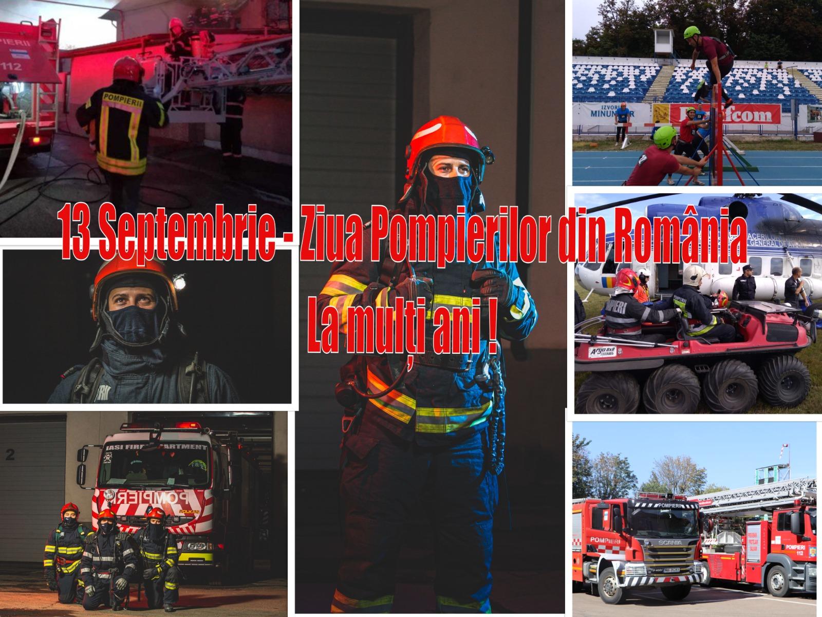 13 semtebrie - Ziua Pompierilor din România